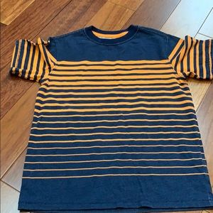 Cherokee boys T-shirt navy & orange stripe size S